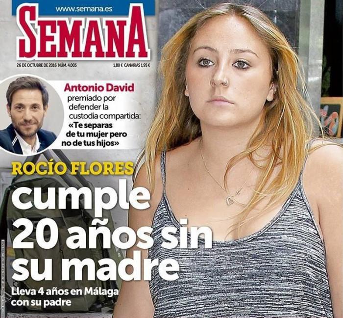 Rocío Flores Carrasco cumple 20 años con la ausencia de su madre en su vida