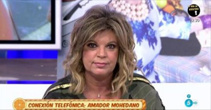 Amador Mohedano y Terelu Campos, enfrentamiento en Sálvame