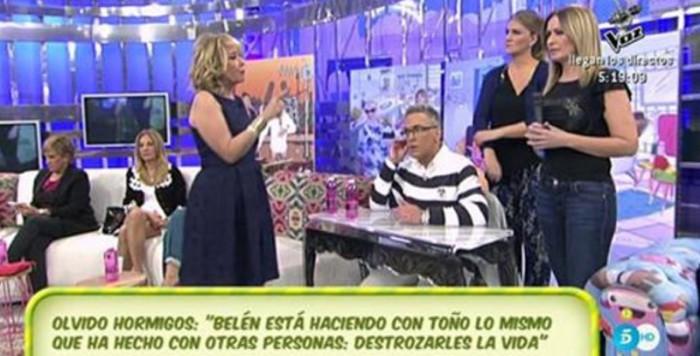 Olvido Hormigos defiende a Toño Sanchís y acusa a Belén Esteban de mentirosa