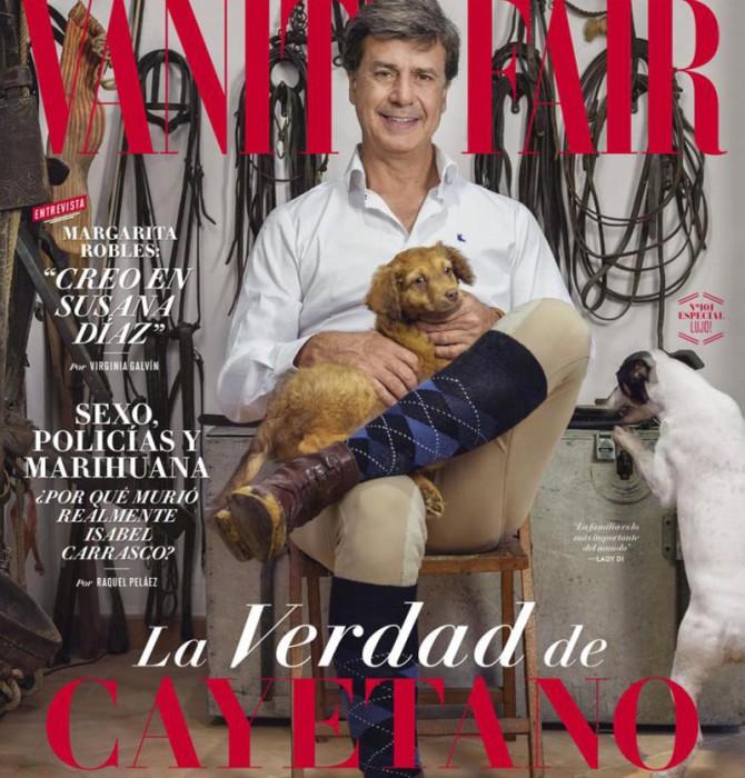 """Cayetano Martínez de Irujo en Vanity Fair: """"No tenía para pagar la luz"""""""