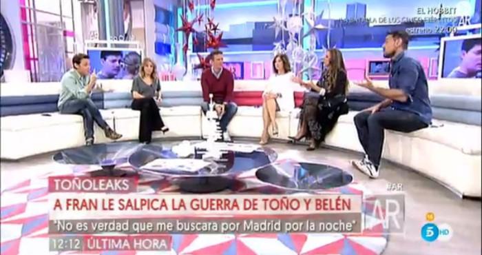 Fran Álvarez responde a las declaraciones de Belén Esteban y Toño Sanchís