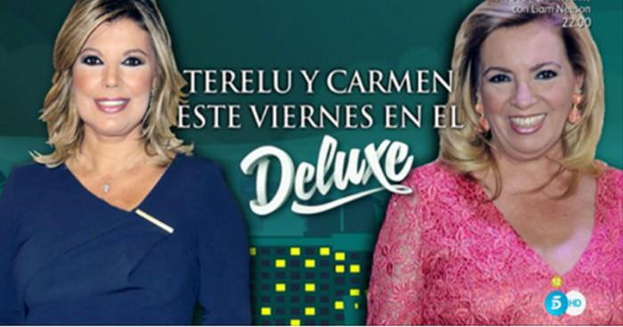 Terelu Campos y Carmen Borrego comparecen esta noche en Sálvame Deluxe