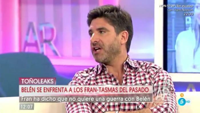 Toño Sanchís se estrena como colaborador en El programa de Ana Rosa