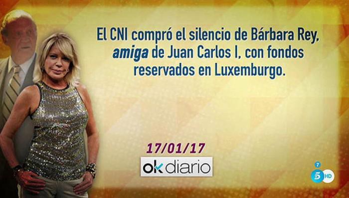 Bárbara Rey tomará medidas legales tras ser relacionada con Juan Carlos I y fondos reservados