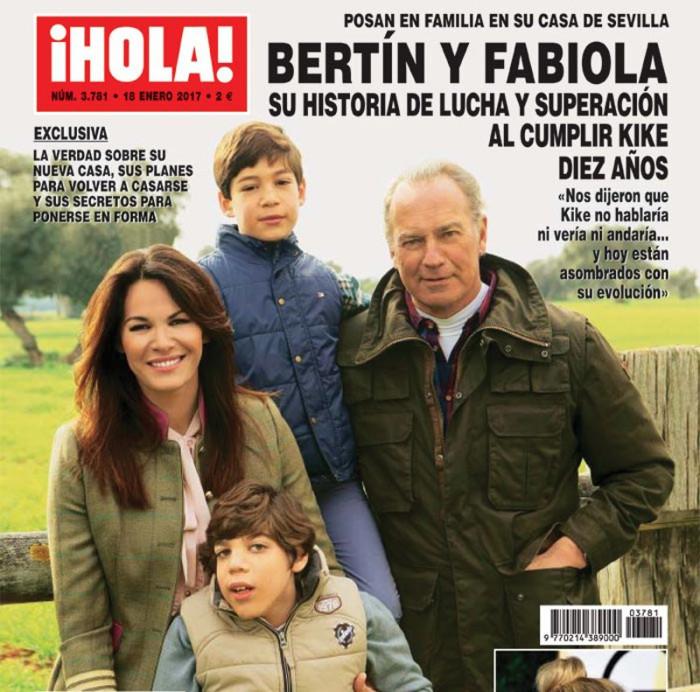 Bertín Osborne y Fabiola Martínez comentan la historia de superación de su hijo Kike en ¡Hola!