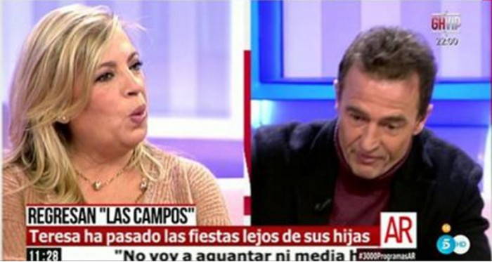 Carmen Borrego defiende a Las Campos en El programa de Ana Rosa