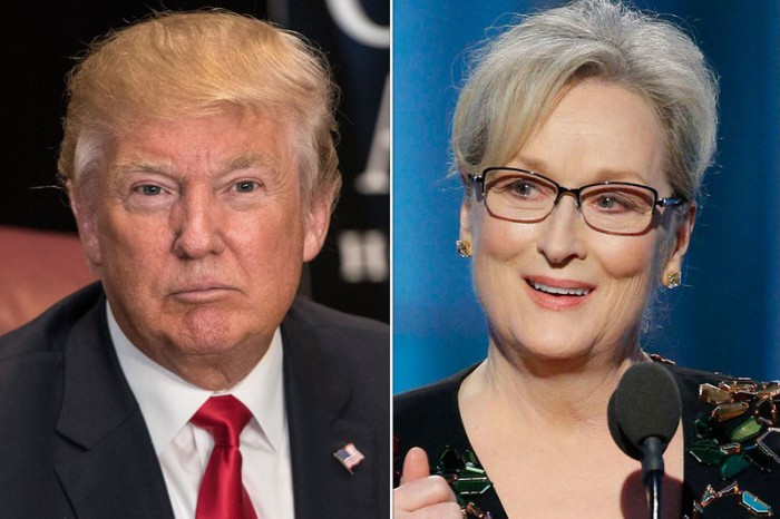 Donald Trump responde a Meryl Streep tras el discurso de la actriz en los Globos de Oro 2017