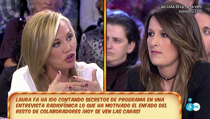 Laura Fa se siente incómoda en Sálvame debido a Belén Esteban y Mila Ximénez