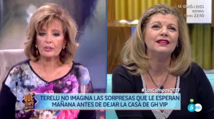 Una orgullosa María Teresa Campos visita mañana a Terelu en Gran Hermano VIP 5