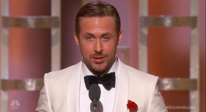 La preciosa dedicatoria de Ryan Gosling a Eva Mendes en los Globos de Oro 2017