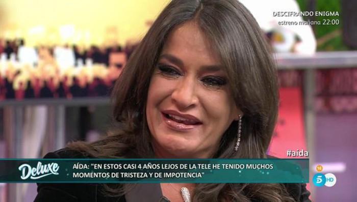 Aída Nízar relata su desesperación al estar apartada de la televisión
