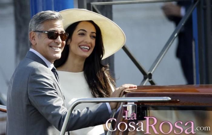 George y Amal Clooney serán padres por partida doble en junio