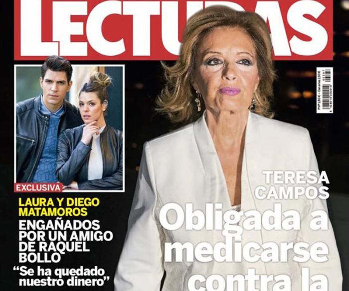 Los problemas de salud de María Teresa Campos en la portada de Lecturas