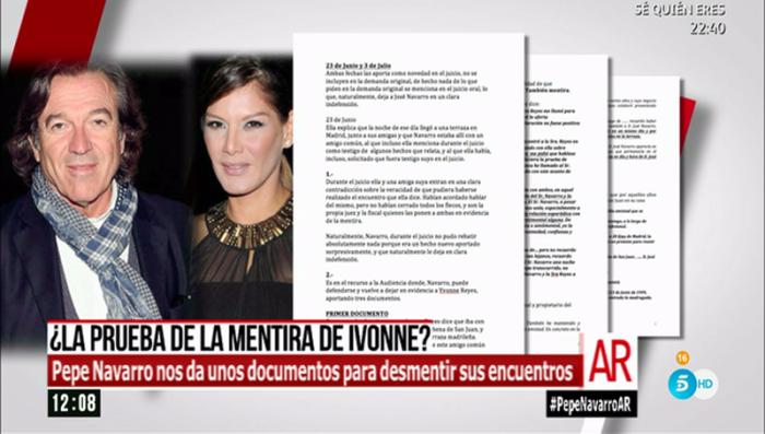 Pepe Navarro recopila documentación para desmontar a Ivonne Reyes