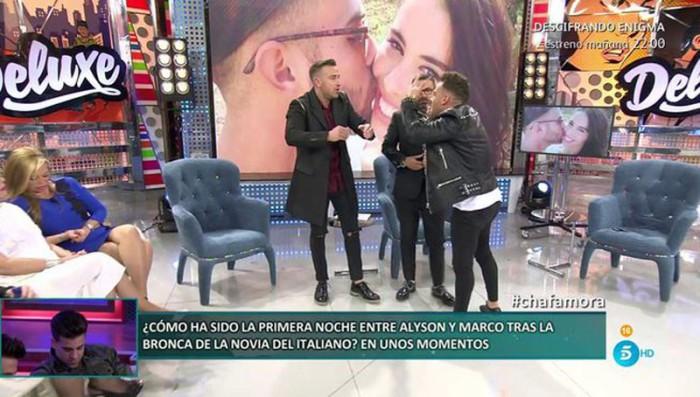 Rafa Mora se enfrenta al exnovio de su pareja Macarena Millán