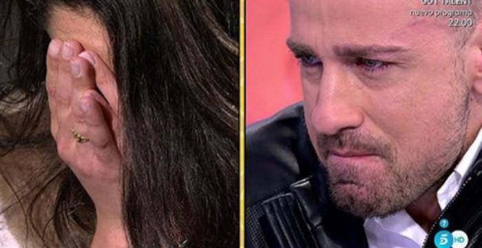 Rafa Mora y Macarena Millán, lacrimógeno reencuentro en Sálvame diario