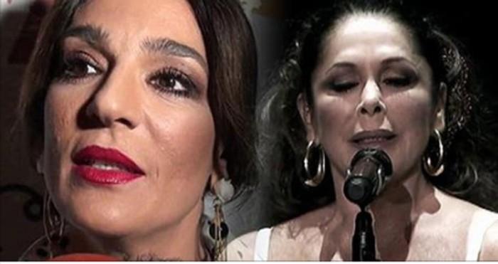 Raquel Bollo no pintaba nada en el concierto de Isabel Pantoja