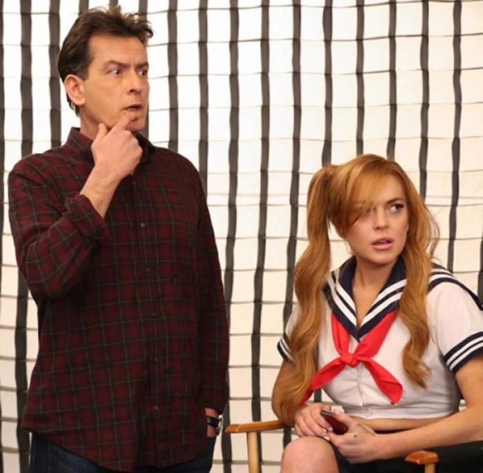 Charlie Sheen habla de la noche que pasó con Lindsay Lohan