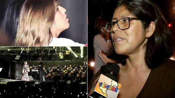 Roxana Luque, presunta madre biológica de Chabelita, acude al concierto de Isabel Pantoja en Lima