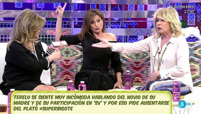 Terelu Campos advierte a su madre sobre sus compañías