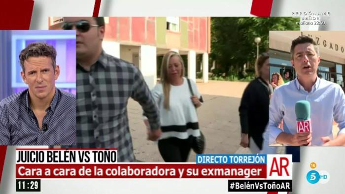El juicio de Belén Esteban contra Toño Sanchís ya ha comenzado