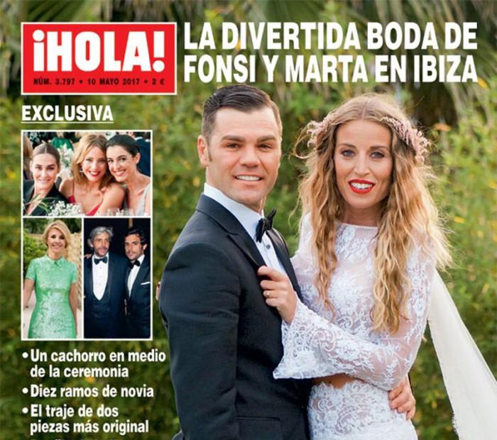 Fonsi Nieto y Marta Castro, su boda en exclusiva en ¡Hola!