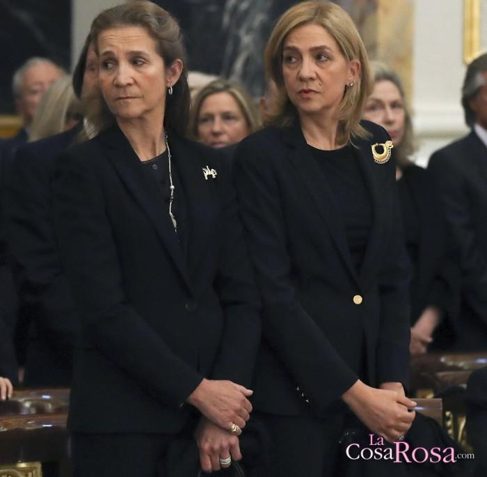 La infanta Cristina asiste al entierro de Alicia de Borbón-Parma
