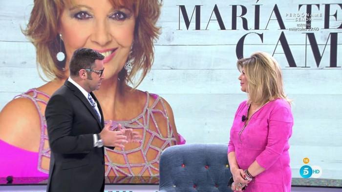 El hijo de Bigote Arrocet, Maximiliano, visita a María Teresa Campos