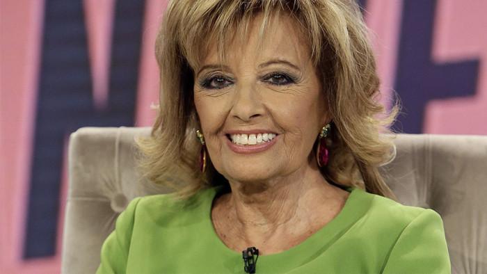 María Teresa Campos es fotografiada en el hospital