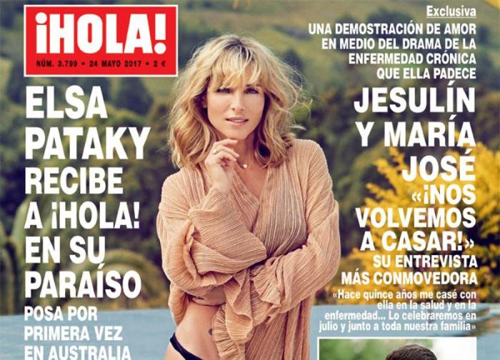 Elsa Pataky, protagonista de la portada de ¡Hola!
