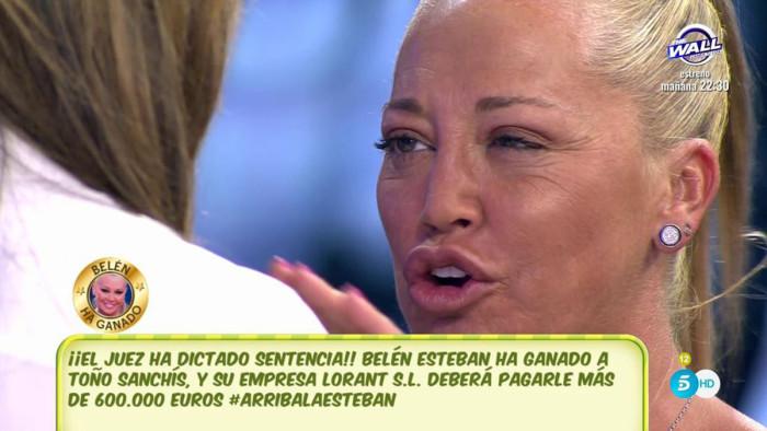 Belén Esteban comenta que la sentencia no podía haber sido mejor para ella