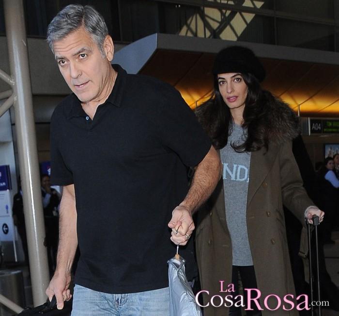 George y Amal Clooney contratan guardaespaldas para proteger a sus mellizos