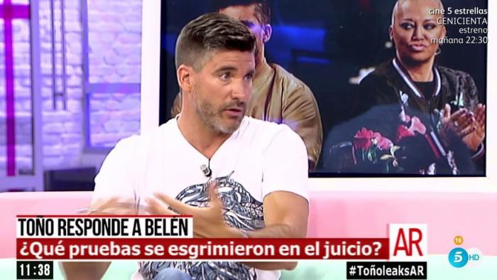 Toño Sanchís y su visión del juicio que le enfrenta a Belén Esteban
