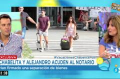 Chabelita y Alejandro Albalá se van de vacaciones y su divorcio sigue adelante