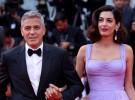 George Clooney y su esposa cautivan al público del festival de Venecia