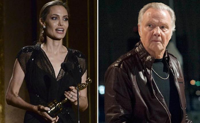 Angelina Jolie apoyada por sus hijos y su padre en el estreno de su nueva película