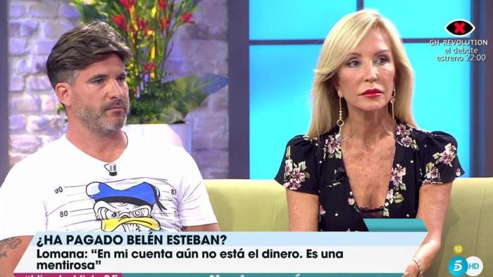 Toño Sanchís y Carmen Lomana se alían contra Belén Esteban