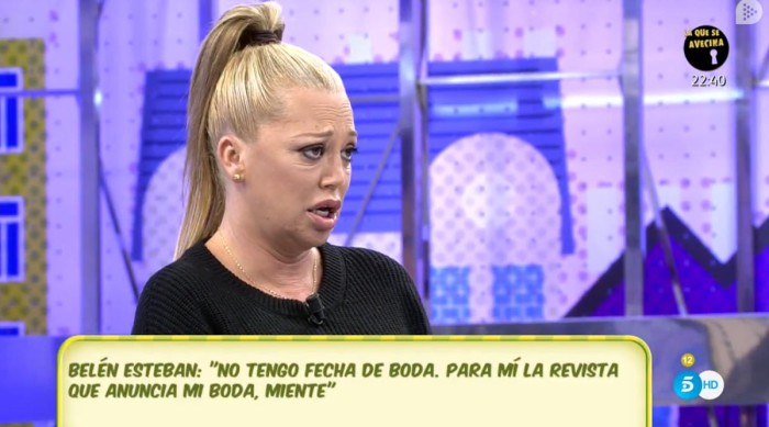 Belén Esteban indignada con el anuncio de su boda en Lecturas