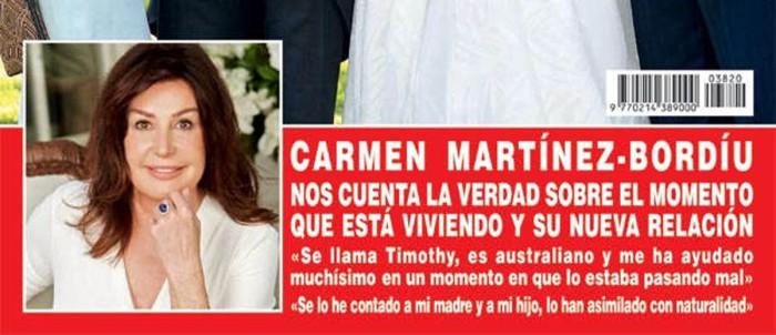 Carmen Martínez-Bordíu habla de su relación con el coach emocional Timothy