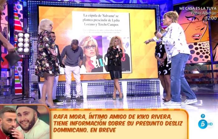 Lydia Lozano llora y Terelu Campos pasa al cuestionarse su continuidad en Sálvame