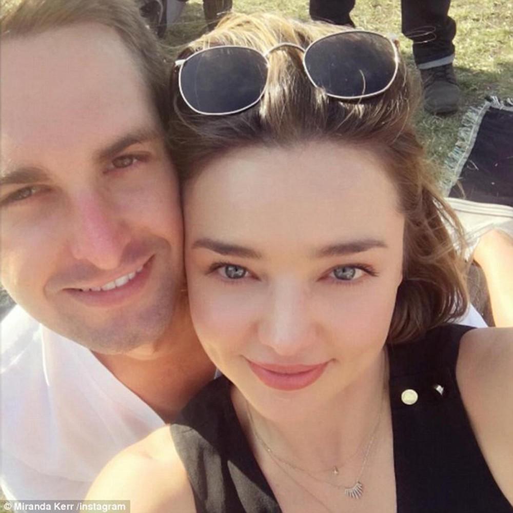 Miranda Kerr y Evan Spiegel esperan su primer hijo en común
