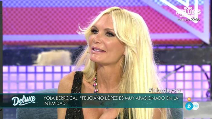 Yola Berrocal habla sobre sus relaciones con Feliciano López y Fonsi Nieto en Sábado Deluxe