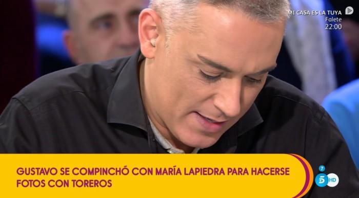 Gustavo González compinchado con María Lapiedra para hacerse fotos El Litri
