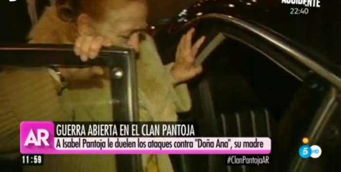 Isabel Pantoja muy contrariada por las declaraciones contra su madre