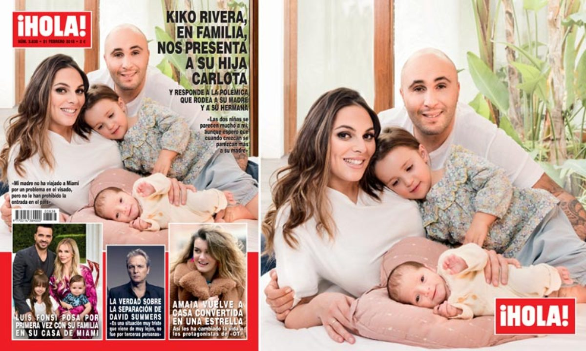 Kiko Rivera e Irene Rosales, exclusiva en ¡Hola! con Carlota