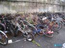 Estacionamiento de bicicletas en Japón