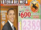Barack Obama también vende loterías en Colombia