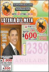 Barack Obama en Lotería de Colombia