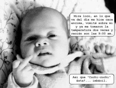 pensamiento de bebe molesto