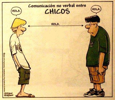 comunicación no verbal entre chicos